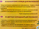 Карандаши цветные Пегашка, 36 цветов, ТМ Marco, фото 4