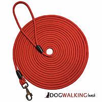 Поводок круглый шнур для собак Dog Walking 8 мм 10 м черный