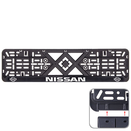 Рамка номера пластик SR з хром. рельєфним написом NISSAN (UKR-00)