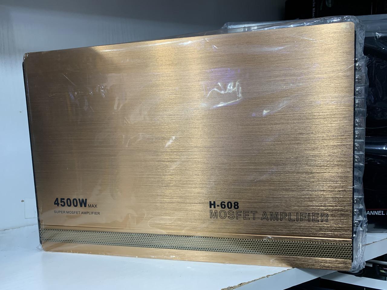 Автомобильный усилитель звука H-608, 4500W, 4-х канальный