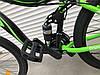 ✅ Двухподвесный Горный Велосипед TopRider 910 ALUXX 26 ДЮЙМ Стальная Рама 17 Черно-Зеленый, фото 4