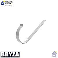 Держатель желоба длинный металл Bryza 125 мм Белый