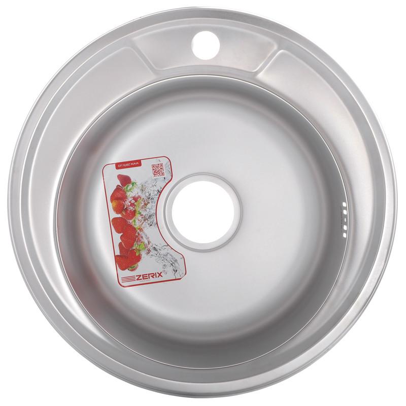 Мойка кухонная ZERIX Z490-06-170P (POLISH) (ZS0555)