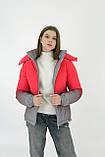 Куртка світловідбиваюча підліткова для дівчинки з двокольорового рефлективної тканини з переходом омбре, фото 4