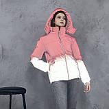 Куртка світловідбиваюча підліткова для дівчинки з двокольорового рефлективної тканини з переходом омбре, фото 3