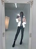 Куртка світловідбиваюча підліткова для дівчинки з двокольорового рефлективної тканини з переходом омбре, фото 8