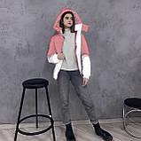 Куртка світловідбиваюча підліткова для дівчинки з двокольорового рефлективної тканини з переходом омбре, фото 5