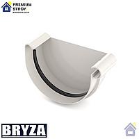 Заглушка желоба правая Bryza 125 мм Белый