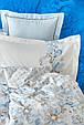 Постільна білизна Karaca Home ранфорс - Charlina mavi 2020-2 блакитний євро (4 наволочки), фото 2