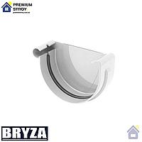 Заглушка желоба левая Bryza 125 мм Белый