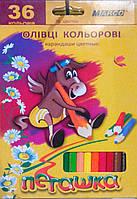 Карандаши цветные Пегашка, 36 цветов, ТМ Marco