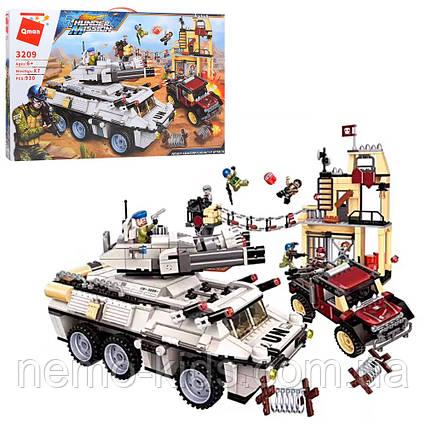 Конструктор Qman транспорт, строение, фигурки, 930 деталей