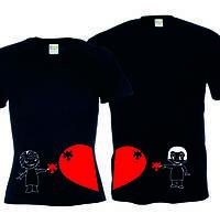 Парные футболки Love is (пазлы)