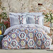 Постельное белье Karaca Home ранфорс - Besta indigo индиго евро