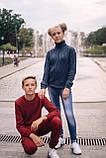 Стильный хлопковый джемпер оригинальной вязки для мальчика 122-152р, фото 5