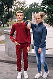 Стильный хлопковый джемпер оригинальной вязки для мальчика 122-152р, фото 6