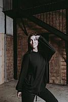 Женский стильный однотонный спортивный костюм с капюшоном (Норма и батал), фото 4