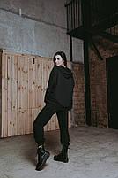 Женский стильный однотонный спортивный костюм с капюшоном (Норма и батал), фото 5