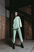 Женский стильный однотонный спортивный костюм с капюшоном (Норма и батал), фото 9