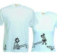 Парные футболки Качели