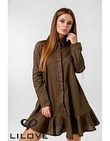 """Платье-рубашка женское полубатальное модель 020 (р.50-52) """"SALE"""" недорого от прямого поставщика"""