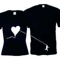 Парные футболки Летящее сердце