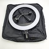 Кільцева LED лампа світлодіодна для телефону, фотозйомки для селфи з Bluetooth пультом для блогера 34см, фото 4