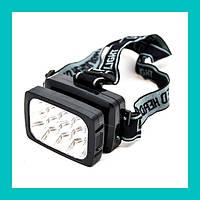 Налобний світлодіодний ліхтарик WIMPEX WX 1837!Акція