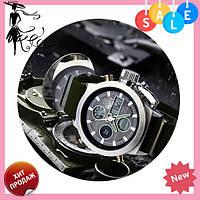 Мужские наручные армейские часы AMST Watch   кварцевые противоударные часы черные, Жмите