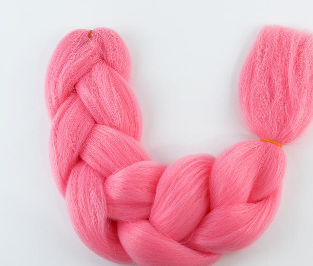 Коса для плетения канеколон однотонный