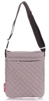 Женская сумка-планшет POOLPARTY pool-59-eco-grey серая
