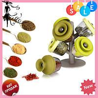 Набор баночек для специй и приправ Pop Up Spice Rack из 6 сосудов   спецовник 6 шт, Жмите
