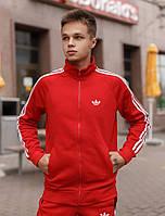Спортивный мужской костюм Adidas (Адидас) эластика, дайвинг красный
