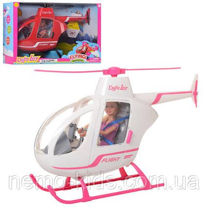 Кукла DEFA шарнирная с вертолетом - детский игровой набор. Вертолет для Барби.