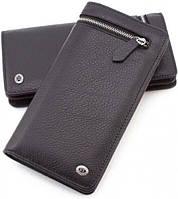 Мужской кожаный кошелек ST Leather ST2913 Черный