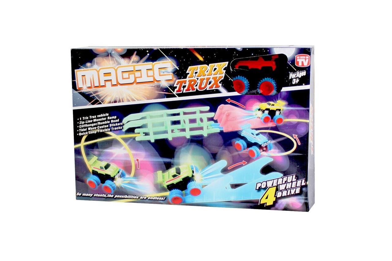 Монстер-Траки (Trix Trux) XL110 + машинка со светящимися фарами оптом
