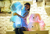 Мягкая игрушка плюшевая подушка светящаяся собачка - ночник с led подсветкой