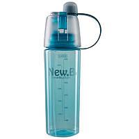 Пляшка для води NewB 600 мл з розпилювачем, пляшечка спортивна Бірюзовий