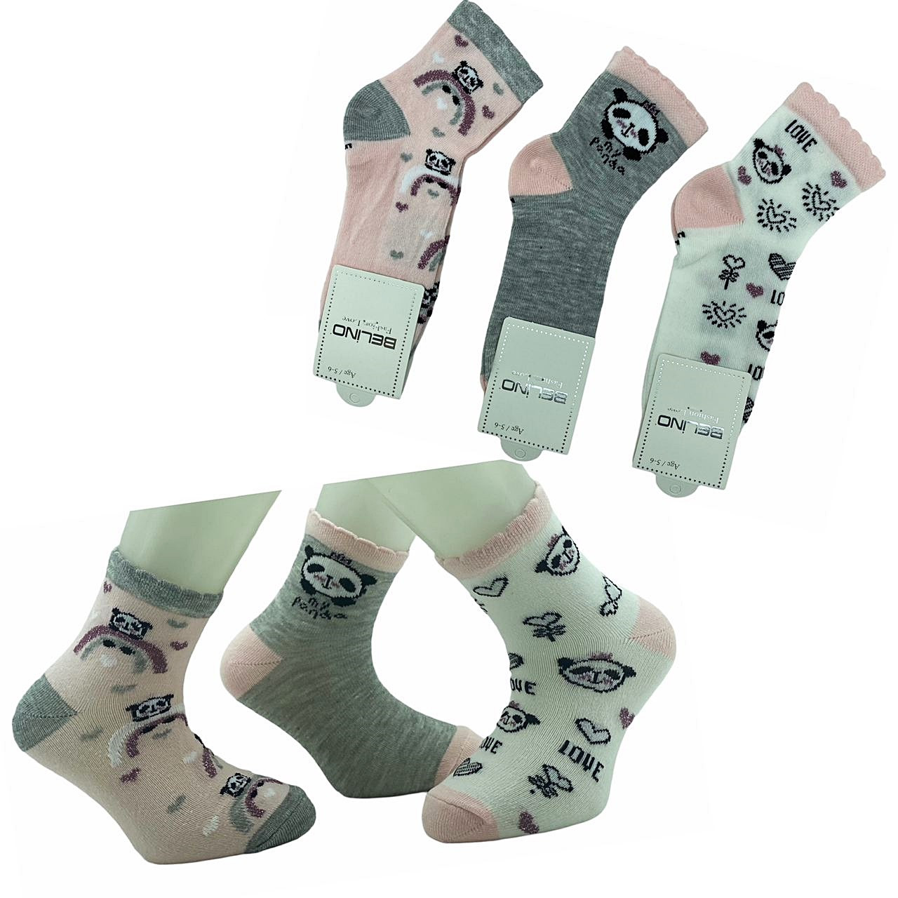 Носки хлопковые 3-4 года для девочек ТМ Belino