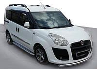Fiat Doblo III nuovo 2010↗ и 2015↗ гг. Боковые пороги Premium (2 шт., нерж.) 60 мм, стандартная база