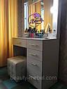 Туалетный столик косметический с подсветкой, белый, фото 8