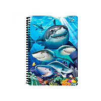 Блокнот 3D акулы селфи (упаковка)