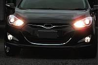Hyundai I-40 Обводка решетки (1 шт, нерж)