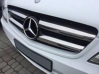 Mercedes Vito W639 2004-2015 гг. Накладки на решетку 2010-2015 (нерж) Carmos - Турецкая сталь