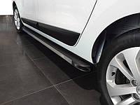 Dacia Lodgy 2013↗ гг. Боковые пороги Maya V1 (2 шт., алюминий)