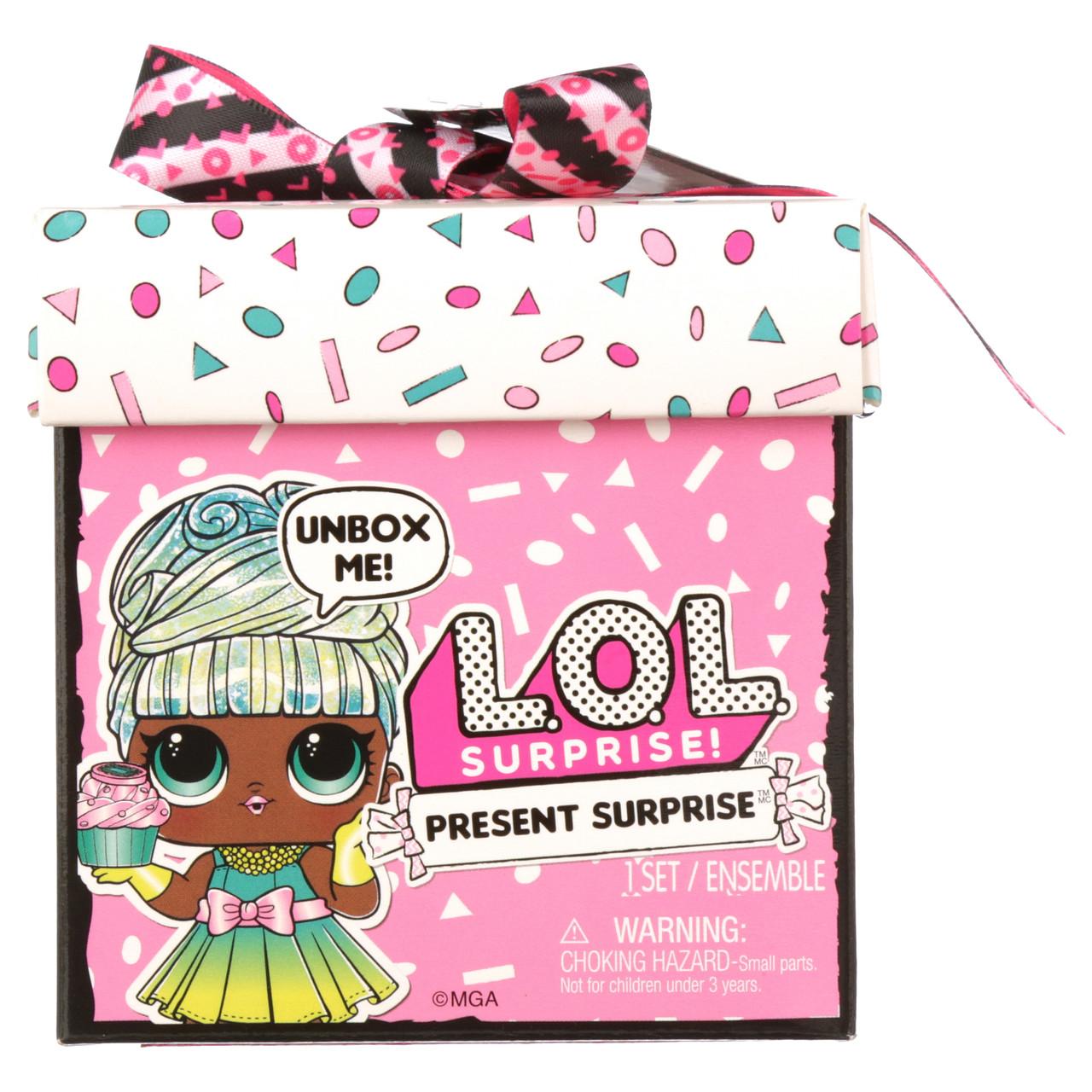 Лялька Лол подарунок LOL Surprise Present Surprise Doll with 8 Surprises