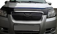 Chevrolet Aveo T250 2005-2011 гг. Зимняя решетка  Глянцевая