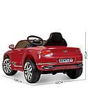 Дитячий електромобіль M 4010 EBLR-1, Mercedes-Benz AMG C63S, шкіряне сидіння, колеса EVA, білий, фото 8