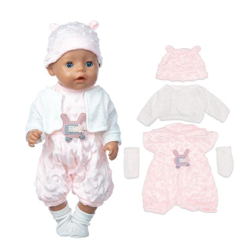 Набор одежды для куклы комбинезон кофточка шапочка носочки Baby Born Baby Annabell РР 8374