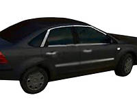 Ford Focus II 2008-2011 рр. Верхня окантовка скла HB (6 шт, нерж.)